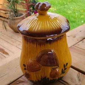 Vintage large mushroom canister